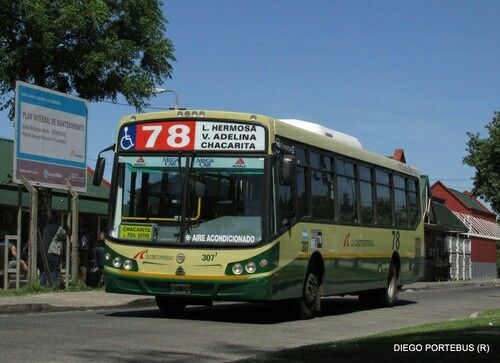 Linea 78 . Transportes Constituyentes S.A.T ( D.O.T.A. )  . Interno 307 . Todo Bus Pompeya II . Agrale MT15