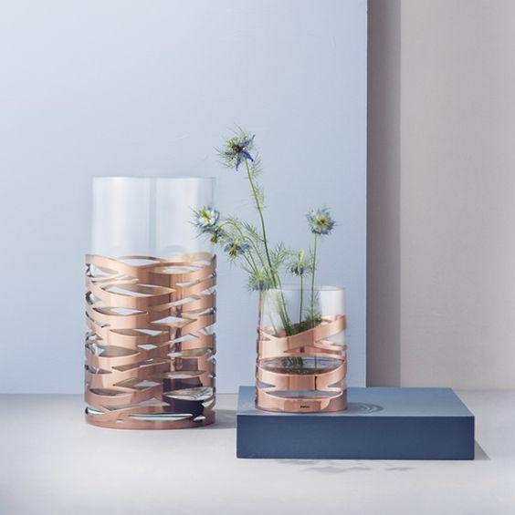 Stelton Vase Tangle: Eine raffinierte Kombination aus Glas und Metall