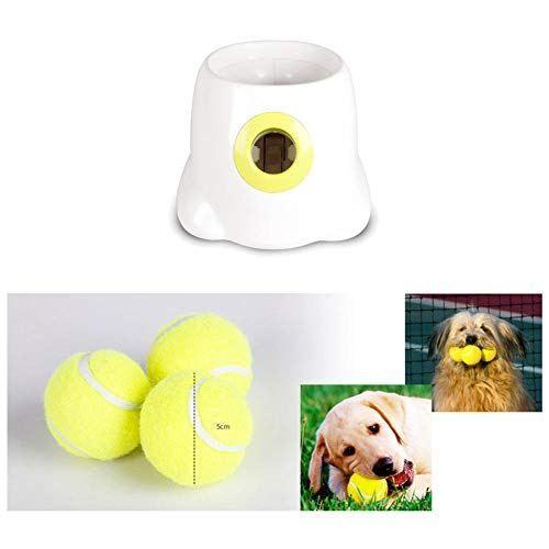 Luerme Automatic Interactive Ball Launcher Tennis Best Offer Petsep Com Dog Ball Dog Training Tools Ball Launcher