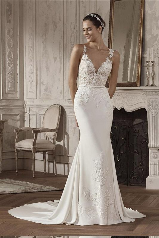 St Patrick 2019 Agara Front View Navy Wedding Dress Wedding Dresses Wedding Dresses Lace