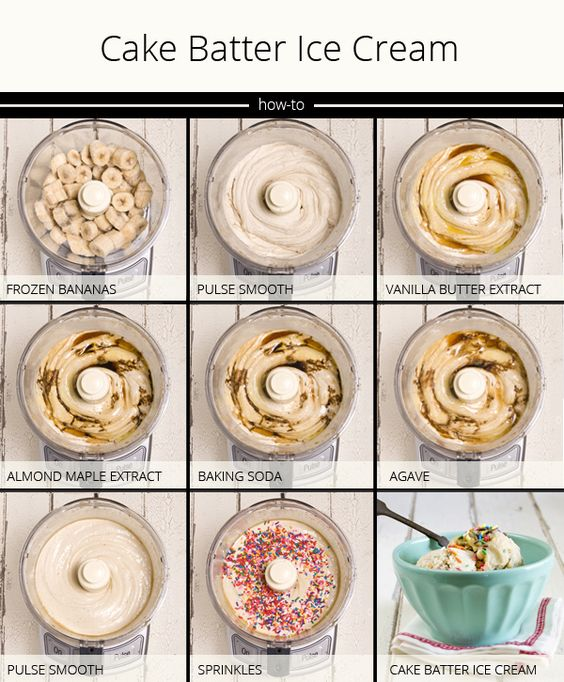 Cake batter ice cream made from bananas