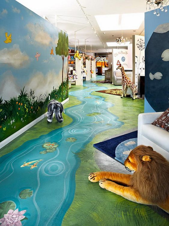 Great ideas for kids nature room wall murals painting for Children wall mural ideas