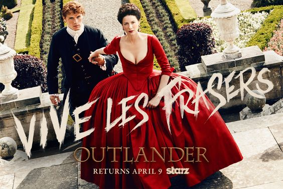 "Anyone know how to say ""dinna fash"" in French? Because from the look of Outlander's newly released Season 2 poster, the Frasers have everything under très cool control in 18th-century France. Starz...:"