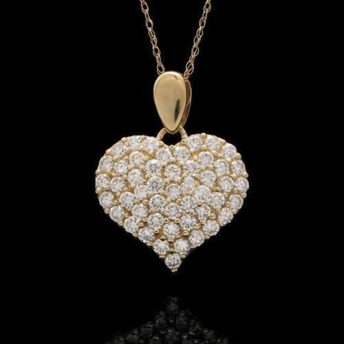 Valentine Day Round Natural Diamond /& Pearl Semi Mount Pendant 14k White Gold