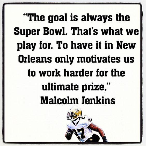 S Malcolm Jenkins #Saints #NOLA #Quote
