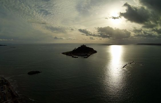 Photo of St Michael's Mount from 400 feet, Cornwall  - mount, marazion, aerial, quadcopter, drone