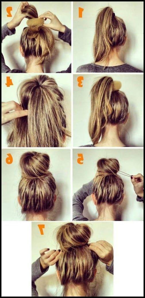 11 Diy Messy Bun Tutorial For Mediun To Long Hair Pinterest Einfache Frisuren Diavortrag Hair Bun Tutorial Bun Hairstyles For Long Hair Bun Hairstyles