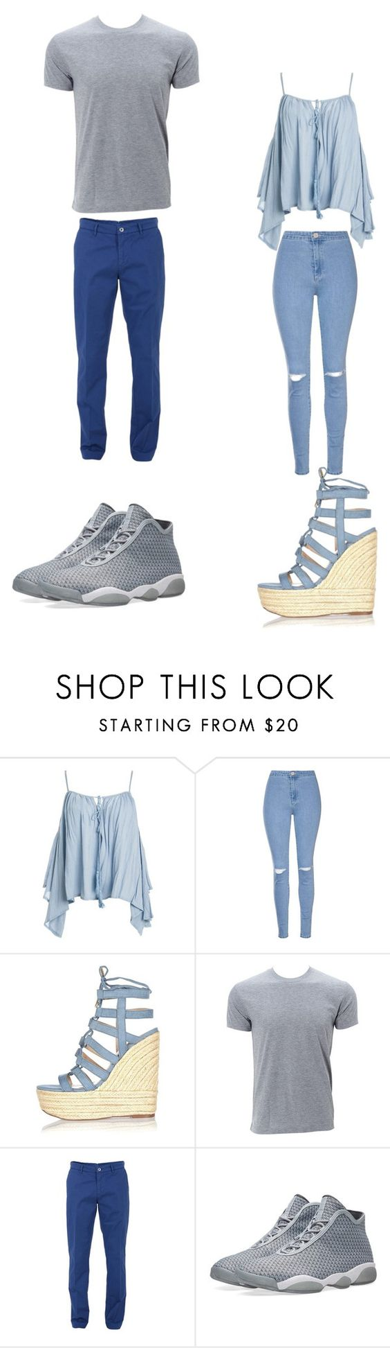 """Untitled #293"" by kassidyrobinson on Polyvore featuring Sans Souci, Glamorous, River Island, Trussardi and NIKE"