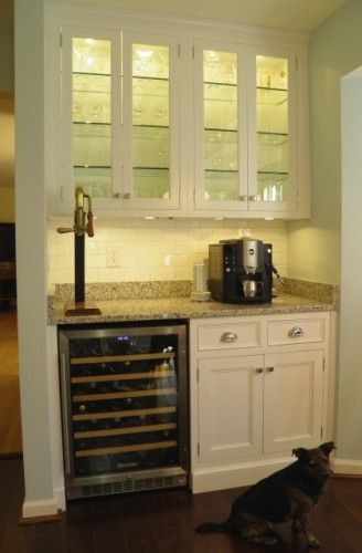Built in bar area beside fireplace future pinterest fireplaces nooks and built ins - Bar area in kitchen ...