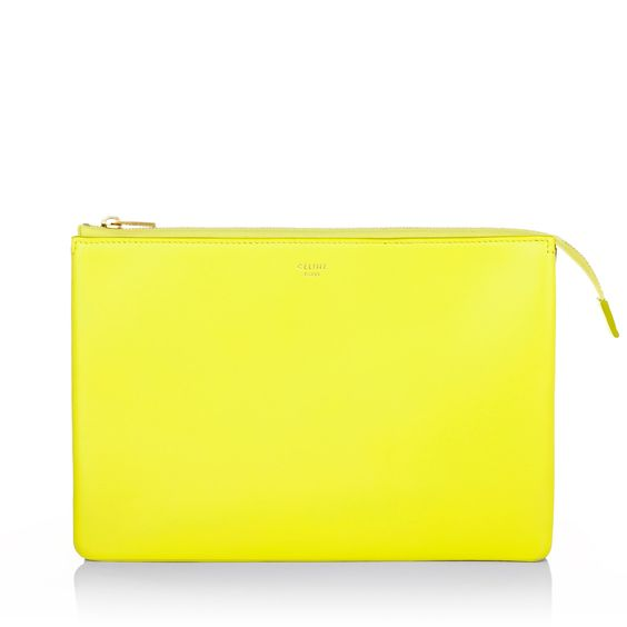 celine royal blue bag - Best summer colours: Celine Duo Cosmetic Pouch Fluo in Yellow ...