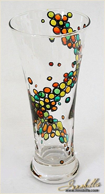 Vase Hand painted stained glass