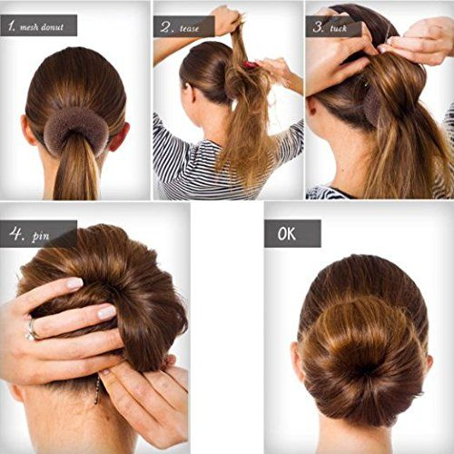 Fireboomoon 3pcs Extralarge Size Hair Donut Bun Ring Styler Maker I ˆbrowni To View Further For This Item Hair Donut Hair Bun Maker Donut Bun Hairstyles