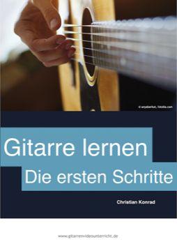 """""""Gitarre lernen - Die ersten Schritte"""" heißt mein kostenloses Mini E-Book, das für Leute gedacht ist, die mit Gitarre anfangen wollen, aber noch keine Gitarre besitzen und auch über keinerlei Vorkenntnisse verfügen. Einfach herunterladen und anfangen!"""