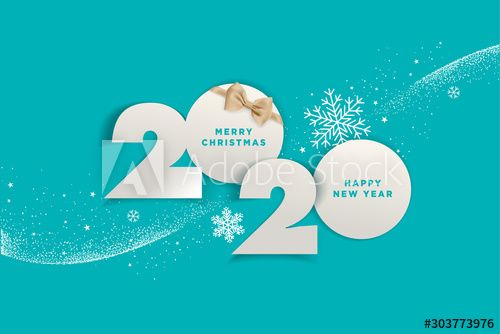 Merry Christmas And Happy New Year 2020 Vector Illustration Concept For Back In 2020 Happy New Year Images Merry Christmas And Happy New Year Christmas Facebook Cover