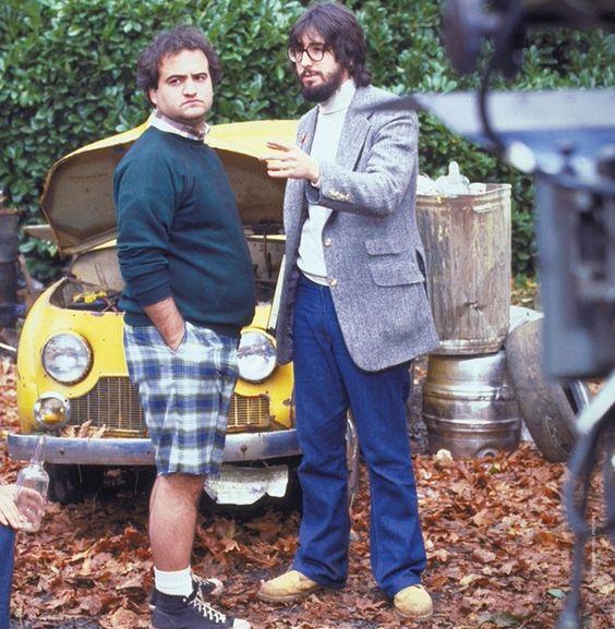 John and John Landis. On the set of Animal House