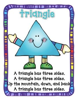 Shape Poems- Teaching shapes through songs and poems is a good way to promote literacy skills for your child.