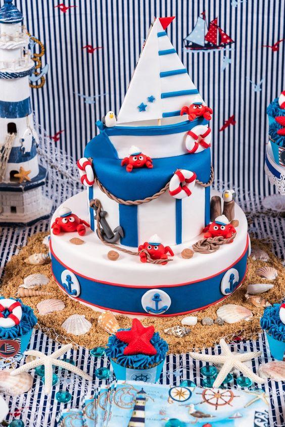 Awesome nautical cake