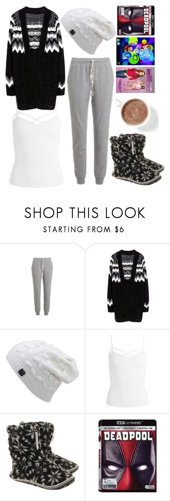 """""""Home Alone"""" by rndmchick ❤ liked on Polyvore featuring Sans Souci and Bedroom Athletics"""