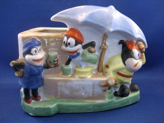 Flip The Frog Lemonade Stand Planter (1930's)
