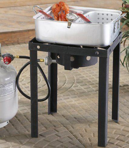 Amazon.com: Outdoor Dual 18 - qt. Propane Deep Fryer: Sports  Outdoors $74