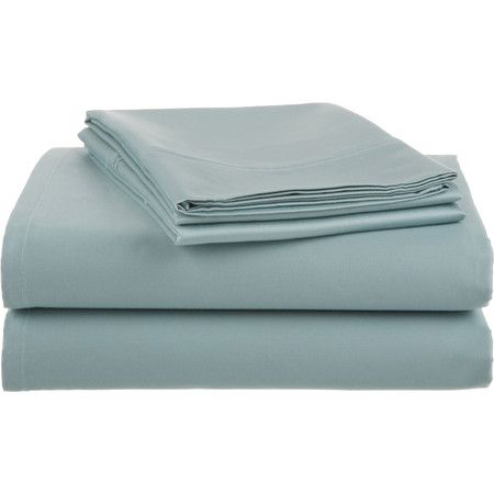 Refresh your master suite or guest room with this essential cotton sheet set, showcasing a lovely aqua hue.  Product: 1 Flat she...