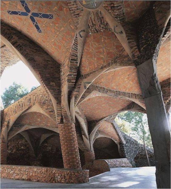 Gaudí's Crypt in Sta. Coloma de Cervelló