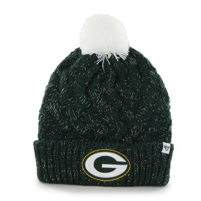 Green Bay Packers '47 Brand Womens Fiona Cuff With Pom Knit Beanie  •ON SALE AT FANATICS.COM $16.00