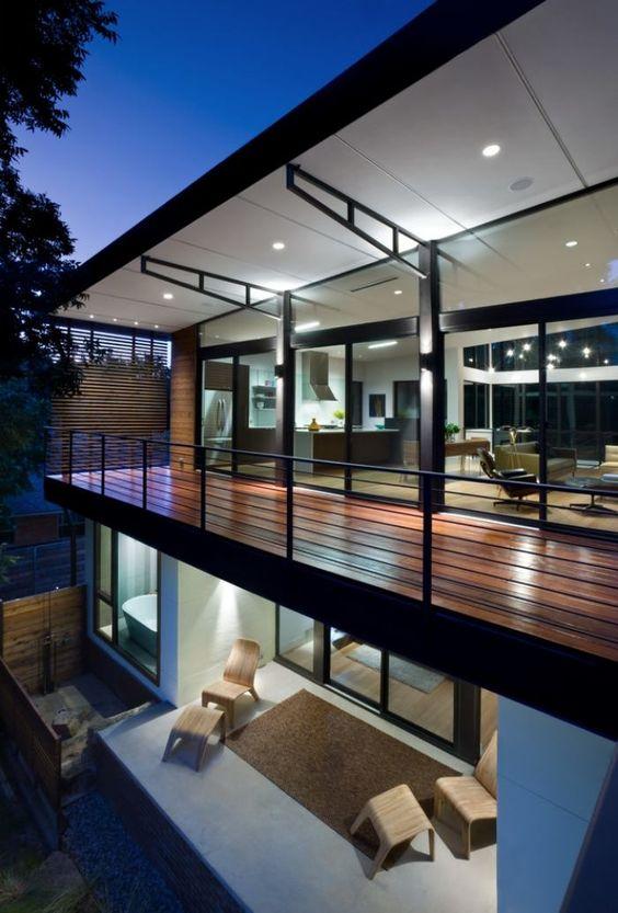 balkongel nder aus flachstahl in schwarz f r ein modernes haus design pinterest haus. Black Bedroom Furniture Sets. Home Design Ideas