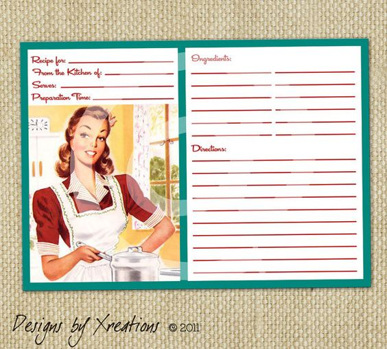 Custom Card Template » 5x7 Recipe Card Template For Word - Free ...