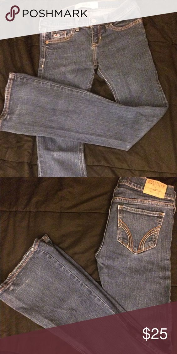 Hollister jeans Low rise stretch boot cut blue denim Hollister Jeans Boot Cut