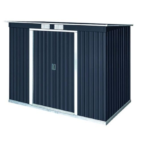 Duramax Building Products Common 8 Ft X 4 Ft Interior Dimensions 8 125 Ft X 3 35 Ft Pent Roof Galvanized Stee In 2020 Steel Storage Sheds Storage Shed Roof Styles