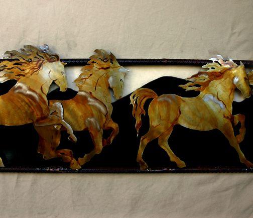 five horses
