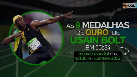 Relembre todas as 9 medalhas olímpicas de Bolt em 36s84