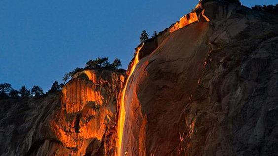 La increíble cascada de fuego del Parque Nacional Yosemite:
