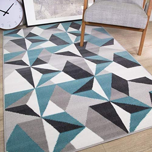 The Rug House Tapis De Salon Traditionnel Traditionnel Gris Argente Creme Bleu Canard Kaleidoscope Geometrique Bleu En 2020 Tapis Salon Tapis Gris Tapis