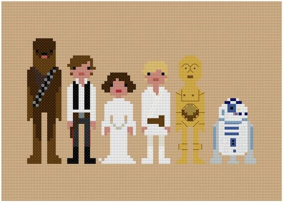 A long time ago in a galaxy far, far away...    Finally everyones favourite movie franchise in Pixel People format! Featuring Chewbacca, Han