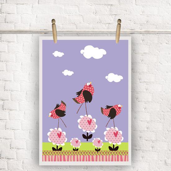 Mini Pôster Série Alegria dos Pássaros