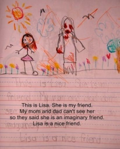 My guess is that Lisa is a dead friend, parents need to stop being so dismissive.