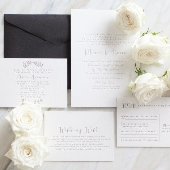 Classic Wedding Invitations / Letterpress by D & D Letterpress (instagram: the_lane) http://thelane.com: