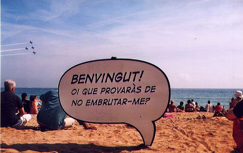 welcome to the beach! by Cohetes naranjas, via Flickr