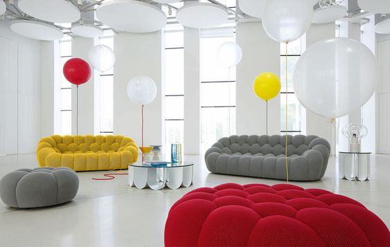 Canapé design original \/ en tissu BUBBLE by Sacha Lakic ROCHE - bubble sofa von versace