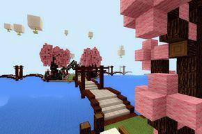 Minecraft Pe Build 8 Cherry Blossom Park I 2020 Med Bilder Ideer