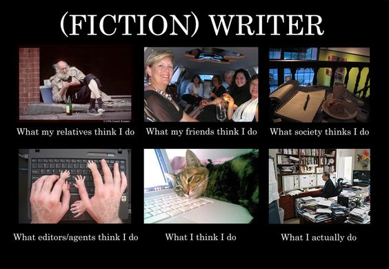 what people think writers do