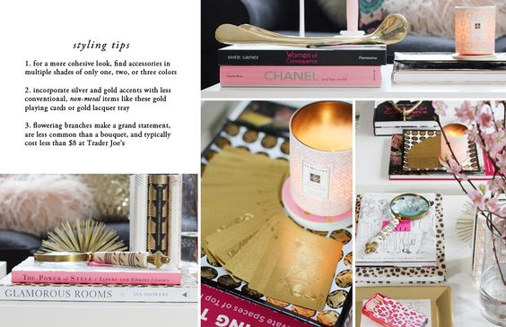How to Style a Coffee Table II via THE EVERYGIRL