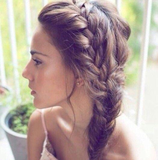 Side Braid Hairstyles For Weddings: Braids, Messy Side Braids And Side Braids On Pinterest