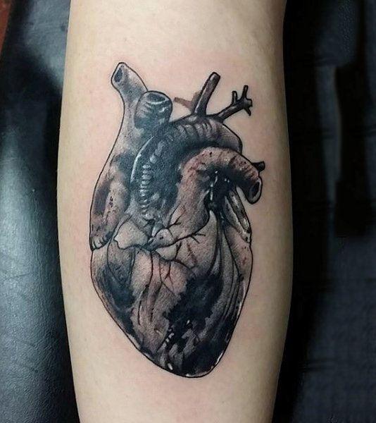 Top 90 Anatomical Heart Tattoo Ideas 2020 Inspiration Guide Anatomical Heart Tattoo Heart Tattoo Realistic Heart Tattoo