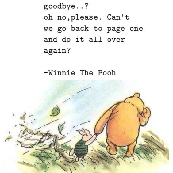 goodbye, love, quote, winnie the pooh