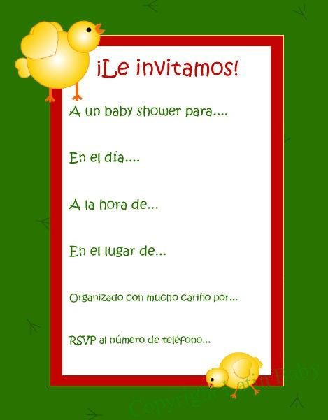 baby shower invitations shower invitations spanish baby showers