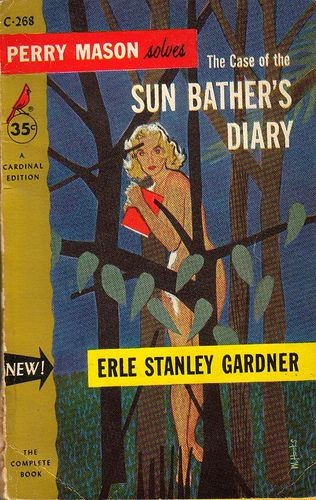 Mitchell Hooks: The Case of the Sun Bather's Diary by Erle Stanley Gardner / Cardinal C-268, 1955