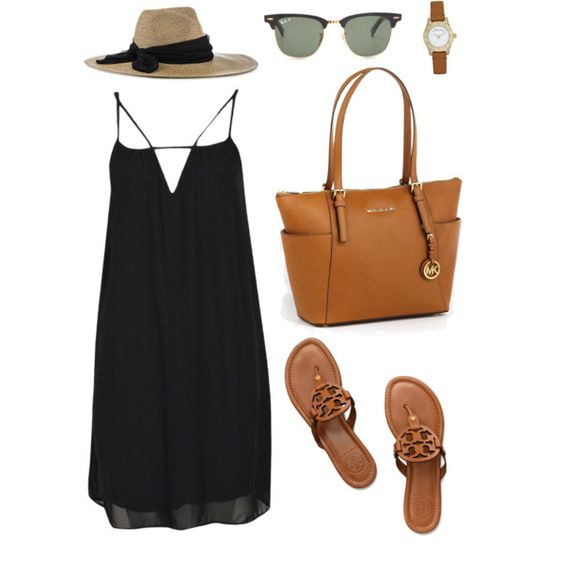 Simplicity by baileyblanchard on Polyvore featuring Boohoo, Tory Burch, MICHAEL Michael Kors, MARC BY MARC JACOBS, Eugenia Kim and Ray-Ban